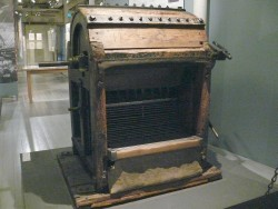 Scutching machine from the 1820's